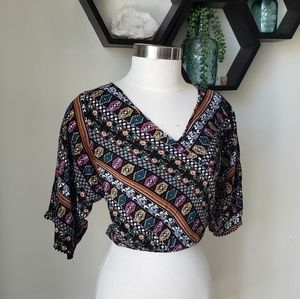 🎉Intu crop top shirt sz small